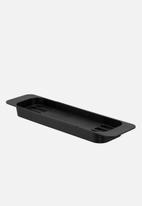Yamazaki - Tower extendable bathrub tray - black