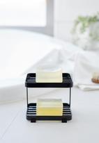 Yamazaki - Tower soap tray 2 tiers - black