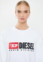 Diesel  - F - Arap felpa sweat - white