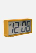 Present Time - Coy rubberised alarm clock - ochre yellow