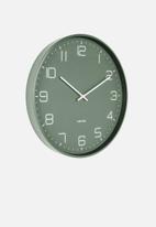 Present Time - Lofty wall clock - green