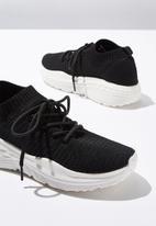 Cotton On - Freya sock trainer - black