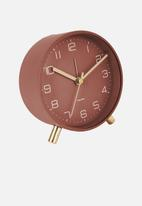 Present Time - Lofty alarm clock - warm red