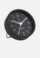 Present Time - Tinge alarm clock - black