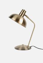 Present Time - Hood desk lamp - brushed gold