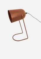 Present Time - Enchant desk lamp - rust