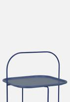 Present Time - Trays side table - steel blue