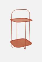 Present Time - Trays side table - steel rust