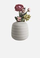 Present Time - Terra wide ceramic vase - light grey