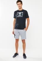 Under Armour - Rival fleece logo sweatshort - grey
