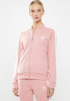 PUMA - Classic T7 track jacket - pink & white
