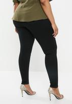 Missguided - Curve anarchy mid rise skinny jeans - black