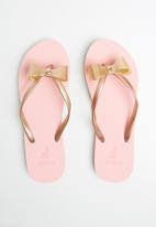 POLO - Mila jelly flip flop - gold & pink