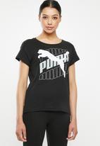 PUMA - Modern sports graphic tee - black & white