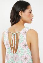 Glamorous - Shift dress - mint & pink