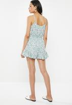 Glamorous - Strappy playsuit - lilac & mint