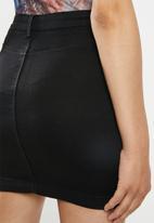 Missguided - Super stretch mini skirt - black