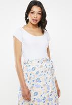 Glamorous - Scoop neck bodysuit - white
