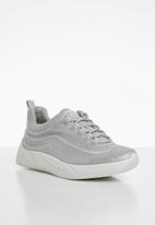 Steve Madden - Textile embellished flatform sneaker - silver