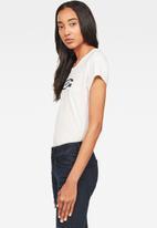 G-Star RAW - Graphic 20 slim T-shirt - white