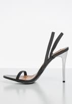 Madison® - Janelle strappy slingback stiletto - black
