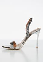 Madison® - Ivy snakeskin slingback heel - black & white