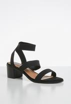 Madison® - Jayde ankle strap heel - black