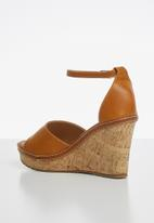 Madison® -  Marlee ankle strap wedge - tan