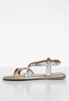 Madison® - Metallic braided strappy sandal - silver