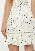 Glamorous - Co ord fril skirt - cream