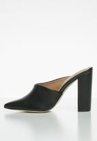 Call It Spring - Tanycoed block heel mule - black