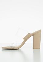 Call It Spring - Falelia block heel mule - beige