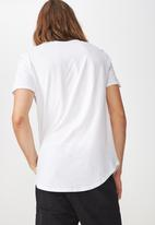 Factorie - Curved hem  tee - white