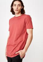 Factorie - Longline T-shirt - red