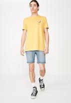 Factorie - Slim graphic T-shirt - yellow