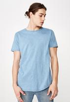 Factorie - Washed curved T-shirt - blue