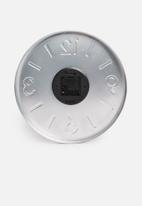 H&S - Embossed aluminium wall clock - copper
