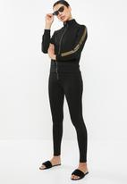 Sissy Boy - Sporty jacket with gold detailing - black