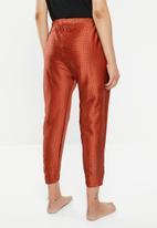Cotton On - Satin drop crotch pants - red