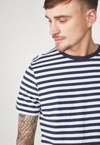 Cotton On - Tbar premium crew - white & navy