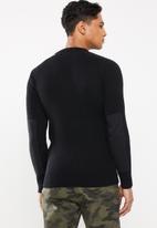 Brave Soul - Marvel crew neck sweater - black
