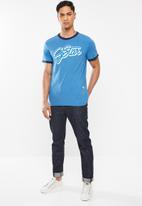 G-Star RAW - Ringer  T-shirt - blue