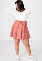Cotton On - Curve woven Chloe mini skirt - multi