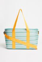 Sixth Floor - Stripe cooler bag 20l - sea green