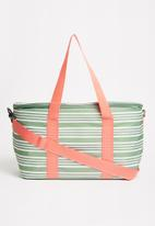 Sixth Floor - Stripe cooler bag 20l - olive green