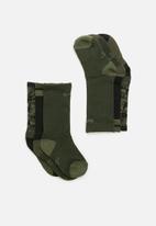 Nike - Nike boys camo socks - green & black