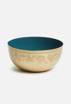 Sixth Floor - Etched bowl - gold & blue
