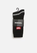 Diesel  - Skm-ray 3 pack socks - black & grey