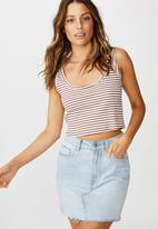 Cotton On - The sister crop tank  - multi