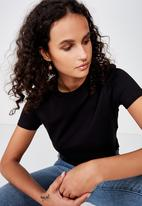 Cotton On - The one baby tee  - black